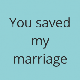 You Saved My Marriage